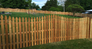 Backyard wood fence replacement in Chester PA
