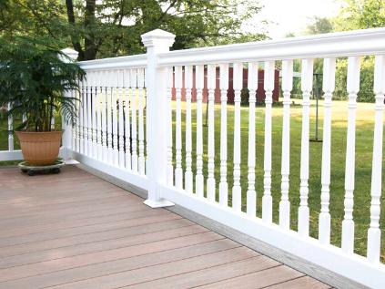vinyl deck railings