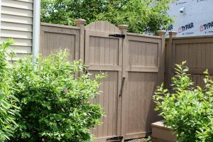 Fence and gate for backyard privacy